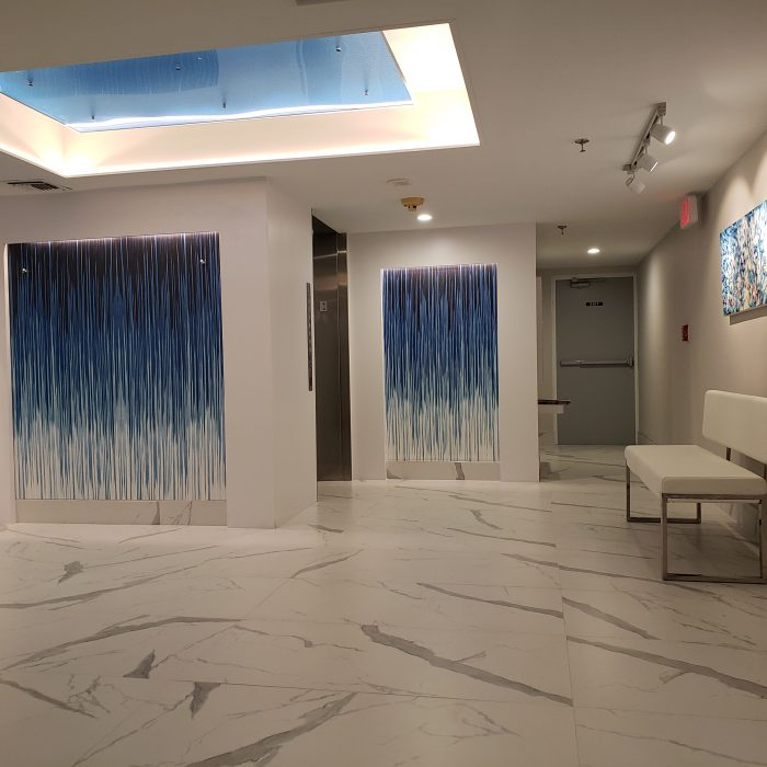 Paintable Glass Textile Wallcovering Project - Digital Print - Regency Condo