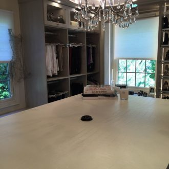 EcoDomo+Bianco+dECOLeather+Countertop+in+a+Closet